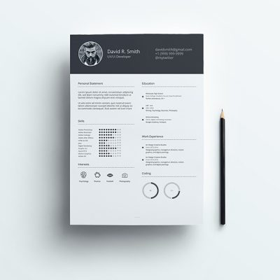 Clean Resume Archives Instaux Free Sketch Adobe Xd Resources Ui Kits Icons